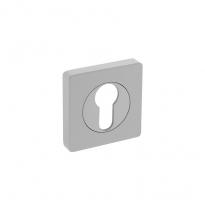 Profielcilindergat plaatje vierkant verlengd 7mm nokken wit