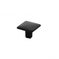 Meubelknop vierkant vlak 26 x 26 mm mat zwart