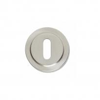 Sleutelplaatje Entrata rond ø53 mm verdekt rand nikkel mat