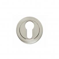 Profielcilindergat Entrata rond ø53 mm verdekt rand nikkel mat