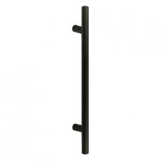 Handgreep T-model rond schuin 30x300x460 mm mat zwart