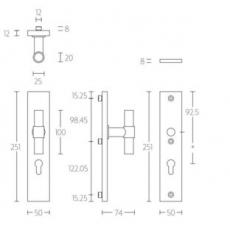 Veiligheidsbeslag PIET BOON PB20-50 Knop/kruk SKG*** RVS PC92