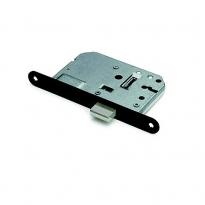 Kastslot incl. 2 sleutels met zwarte voorplaat 20x174 mm.