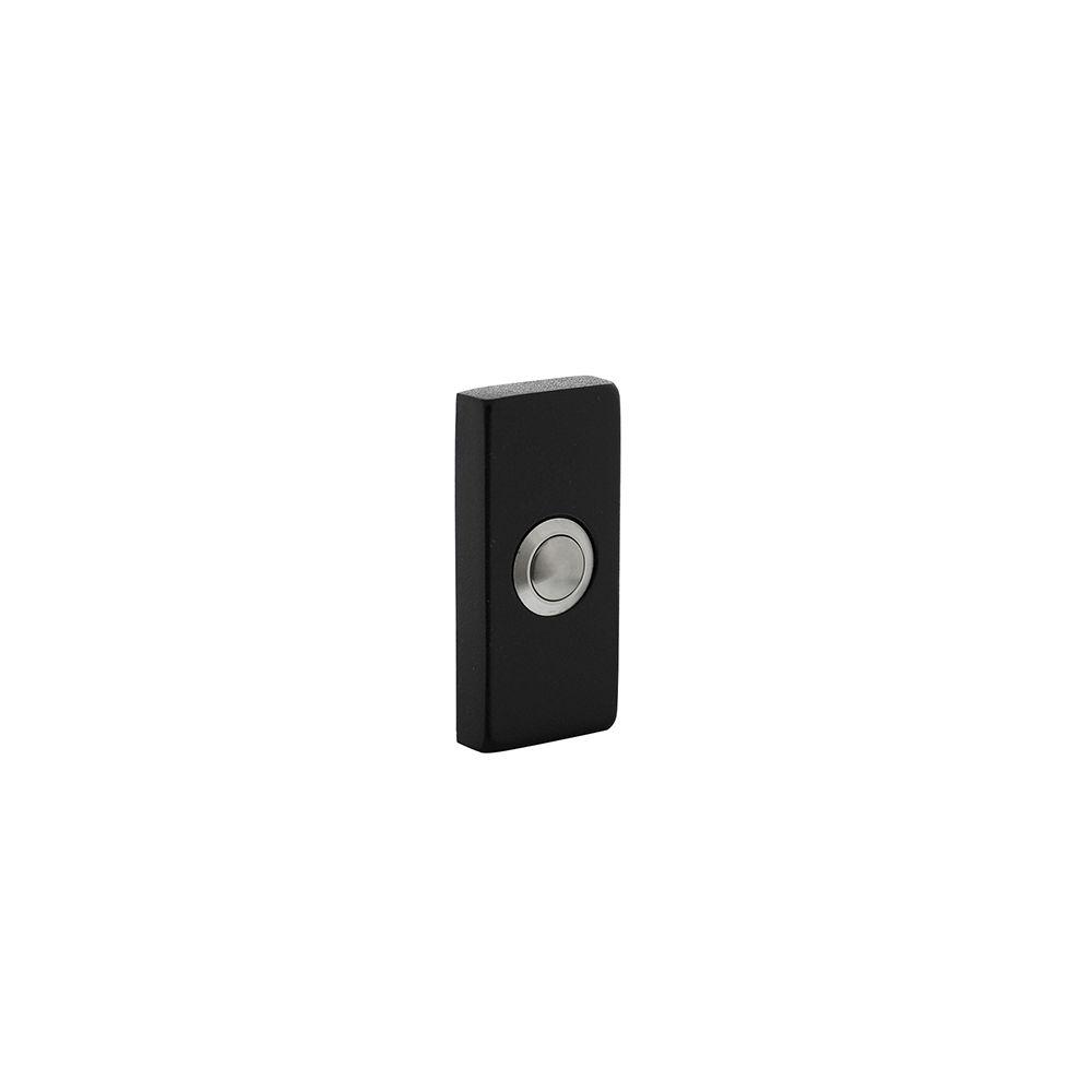 Beldrukker rechthoekig verdekt 65x30x10 RVS/mat zwart