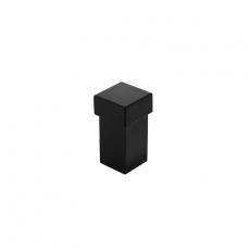 Deurstop vierkant universeel zwart