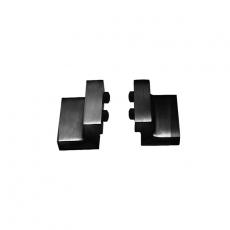 Set van 2 stoppers tbv schuifdeursysteem mat zwart