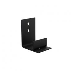 Verstelbare deurgeleider tbv onderzijde schuifdeur - zwart