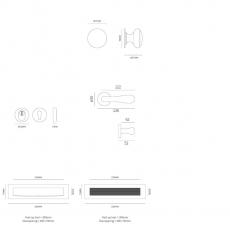Voordeurset compleet PVD grafiet - linkswijzend