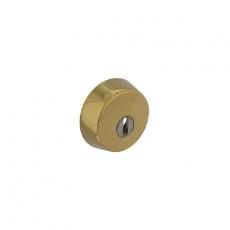 SKG3 Veiligheid-rozet rond tbv oplegsloten met kerntrek beveiliging messing titaan PVD