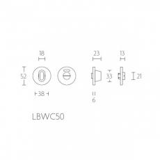 Formani BASIC LBWC50 WC-garnituur - 6mm dik - inclusief 6mm stift - mat zwart