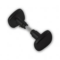 Knopkruk trapezium - zwart
