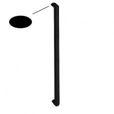 Handgreep recht ovaal 40x22x820mm. mat zwart