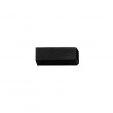 Verloop huls 6-7mm kunststof zwart