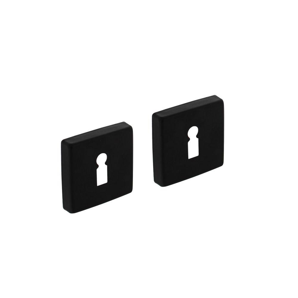 Sleutelplaatjes vierkant 7mm nokken - alu mat zwart