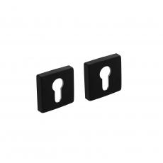 Profielcilinderplaatjes vierkant 7mm nokken - alu mat zwart