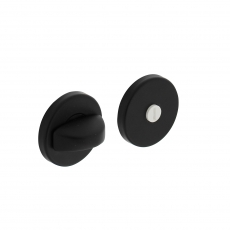 WC-sluiting rond 50x7mm met nokken - alu zwart