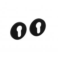 Profielcilinderplaatjes rond 50x7 met 7mm nokken - alu zwart