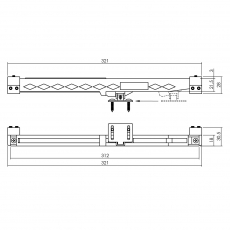 Sluitvertrager 3.0 railmontage universeel tbv schuifdeursteem - zwart