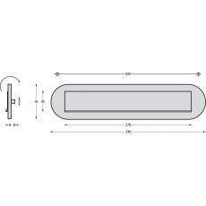 Intersteel voordeurset SKG3*** RVS - ovale uitvoering