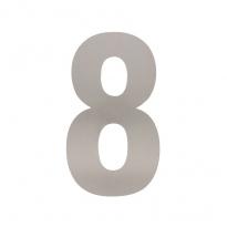 XL huisnummer 30 cm hoog - RVS