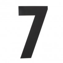 XL huisnummer 50 cm hoog - zwart
