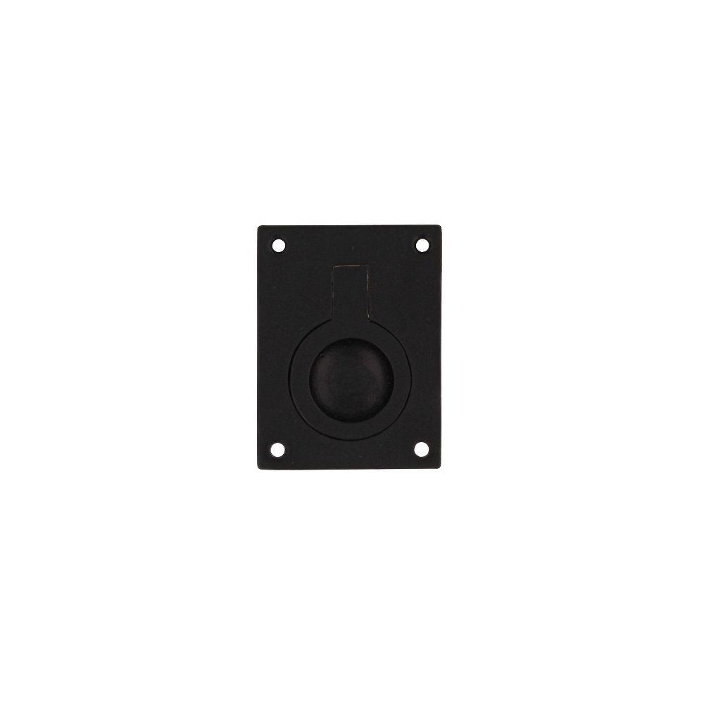 Luikring rechthoekig 41x31mm mat zwart