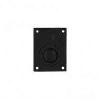 Luikring rechthoekig 41x31mm - mat zwart
