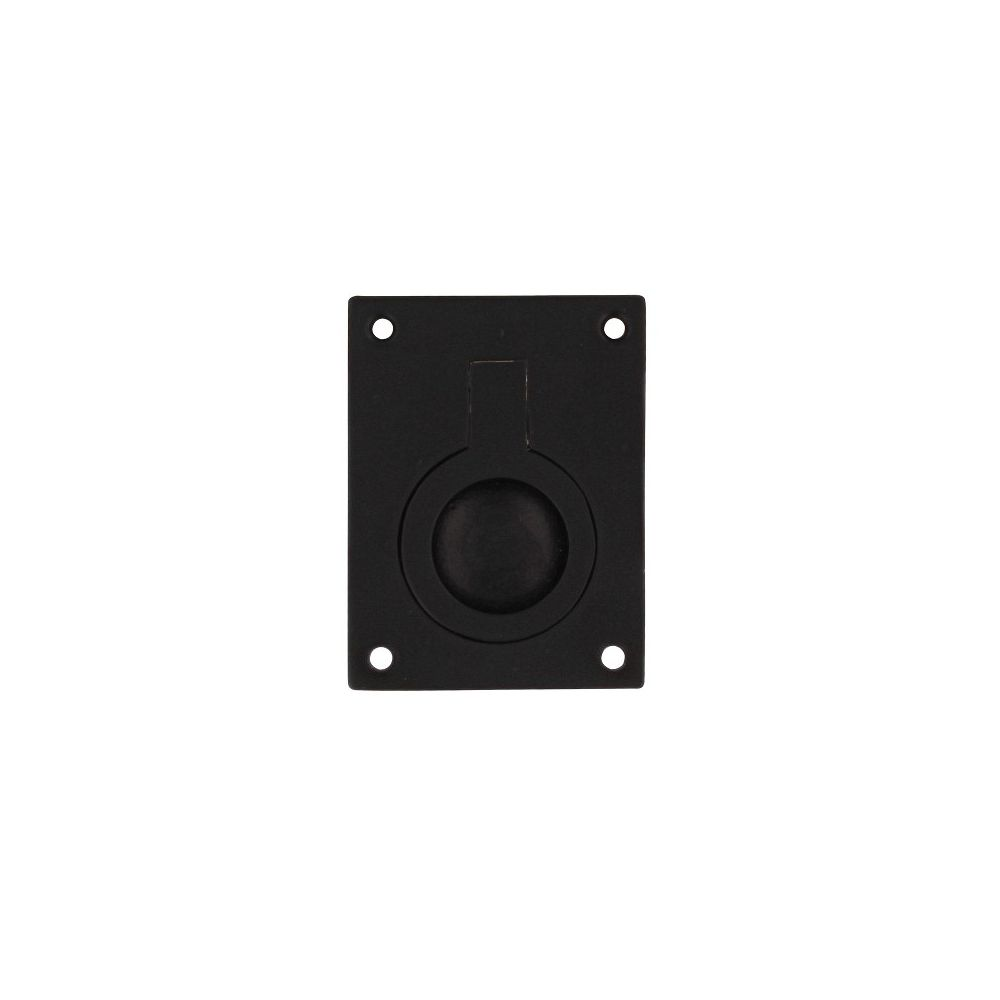 Luikring rechthoekig 50x39mm mat zwart