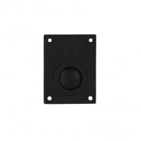 Luikring rechthoekig 50x39mm - mat zwart