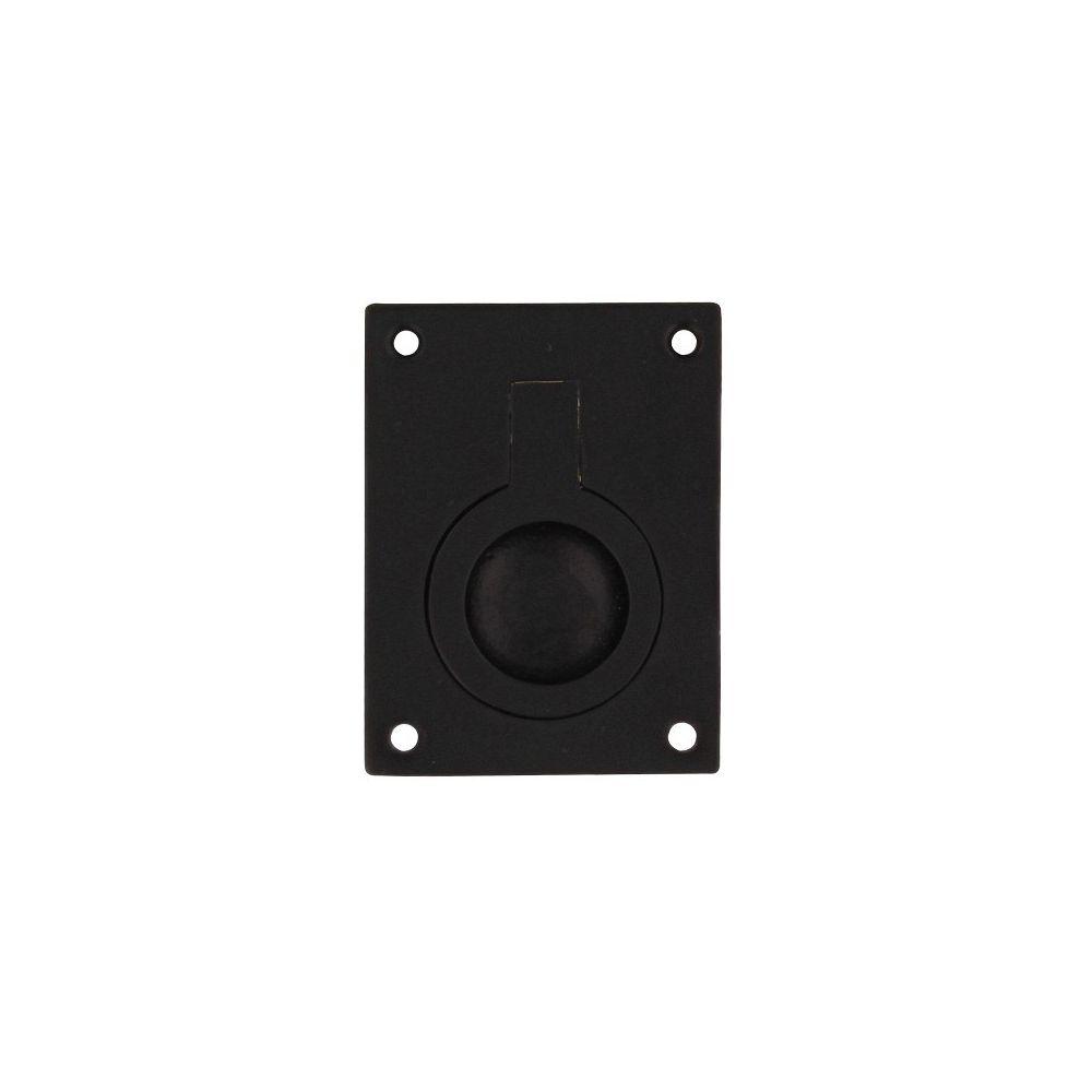 Luikring rechthoekig 65x49mm mat zwart