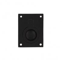 Luikring rechthoekig 65x49mm - mat zwart