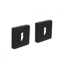 Sleutelgat plaatjes vierkant 7mm nokken - mat zwart