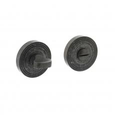 Toilet-/badkamersluiting rond met ril - oud grijs