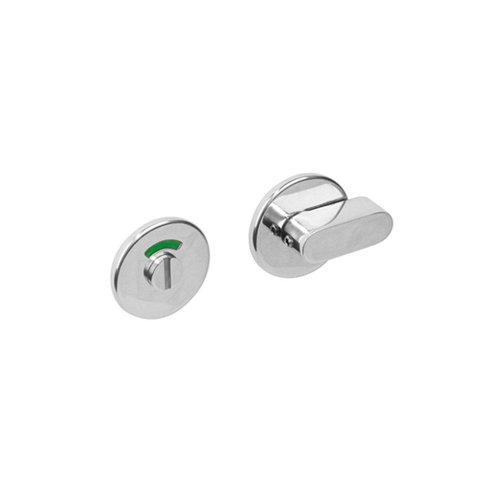 WC sluiting 8mm rond verdekt met design olive rvs gepolijst