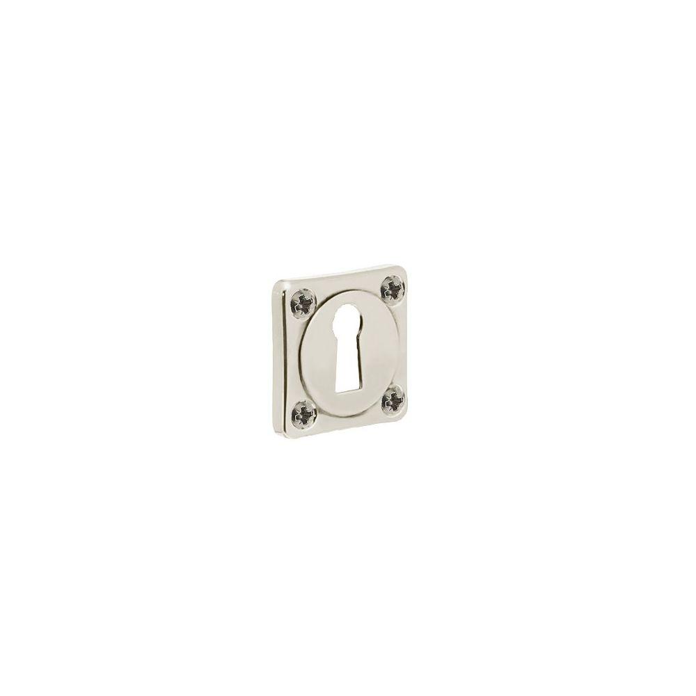 Rozet sleutelgat vierkant basic nikkel