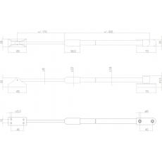 Telecopische raamuitzetter buitendraaiend zwaar 375 grijs