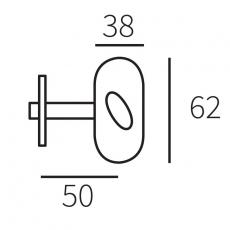Insteekgrendel/voordeurgrendel 50mm - puurzwart
