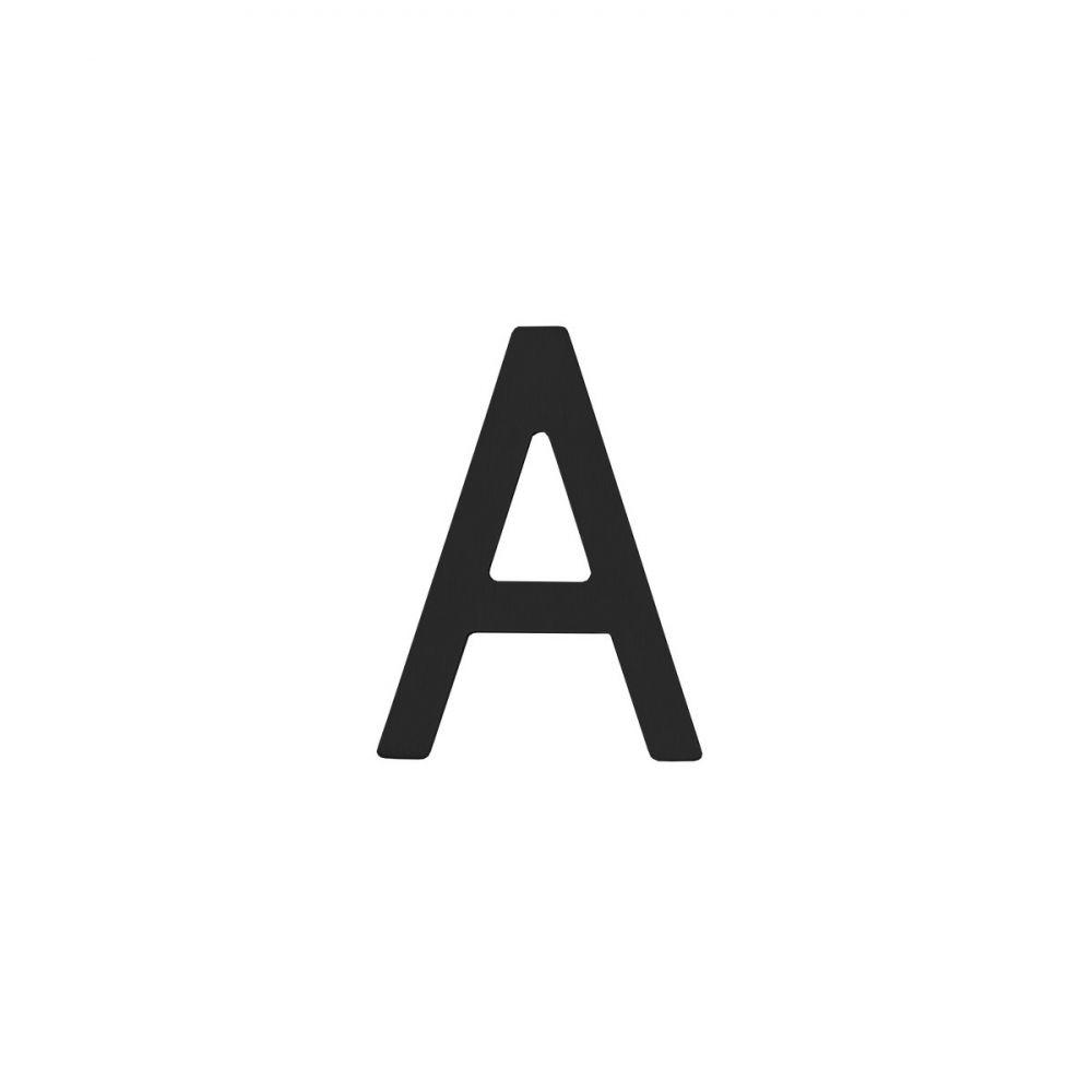 Huisletter 100mm RVS/zwart A