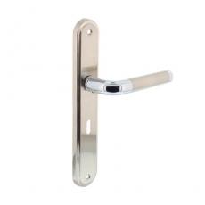 Deurkruk 1683 Agatha op langschild sleutelgat 56mm chroom/nikkel mat