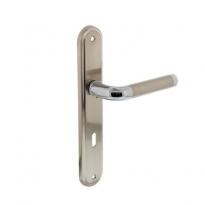 Deurkruk 1683 Agatha op langschild sleutelgat 72mm chroom/nikkel mat