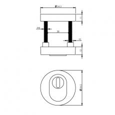 SKG3 Veiligheid-rozet rond met kerntrek beveiliging chroom