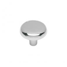 Knop plat 28mm chroom