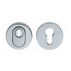 SKG3 Veiligheid-rozet rond met kerntrek beveiliging chroom mat