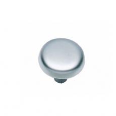 Knop plat 28mm chroom mat