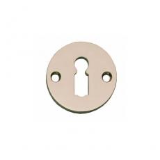 Sleutelplaatje rond plat 42mm nikkel