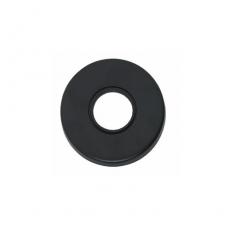 Rozet rond verdekt kunststof mat zwart