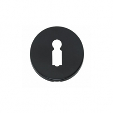Sleutelplaatje rond verdekt kunststof mat zwart
