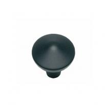 Knop punt rond 20mm mat zwart
