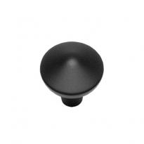 Knop punt rond 25mm mat zwart