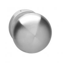 Voordeurknop paddestoel vast op rozet 10mm RVS